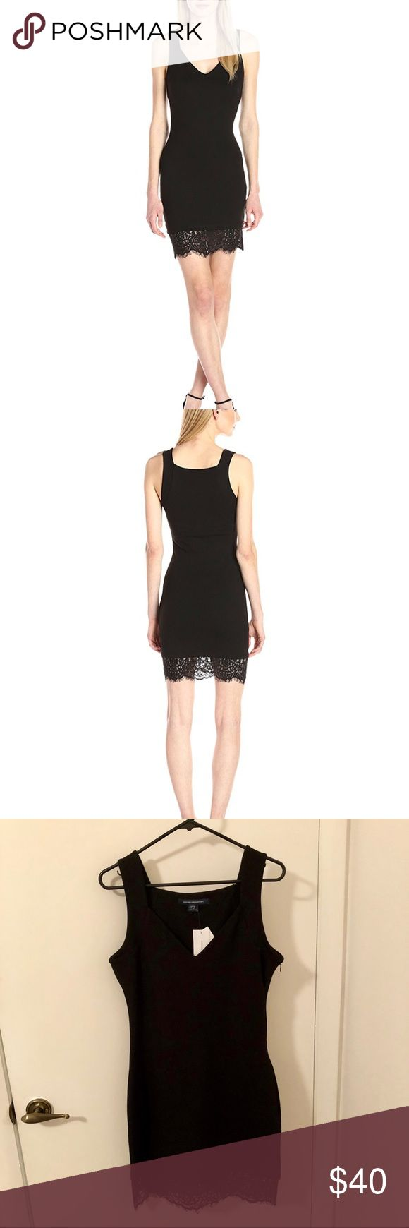 🖤 NWT French Connection Dress 🖤 Hot! NWT French Connection Little Black Dress! Perfect condition, stretchy material, lace bottom, side zipper. A must have fashion staple!!! French Connection Dresses