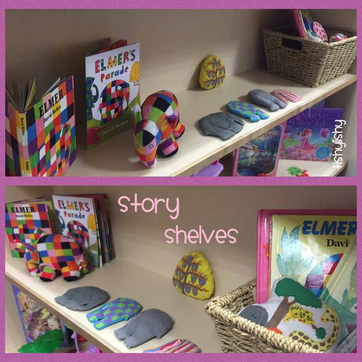 Story shelves - Elmer