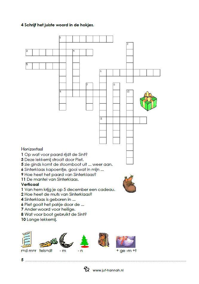 Kruiswoordpuzzel en Rebus [juf-hannah.nl]