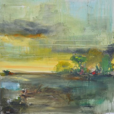 countryside 01 acrylic on canvas 90x90cm by doplaze