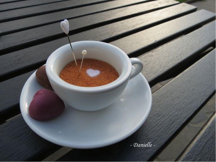mon café latte en laine feutrée
