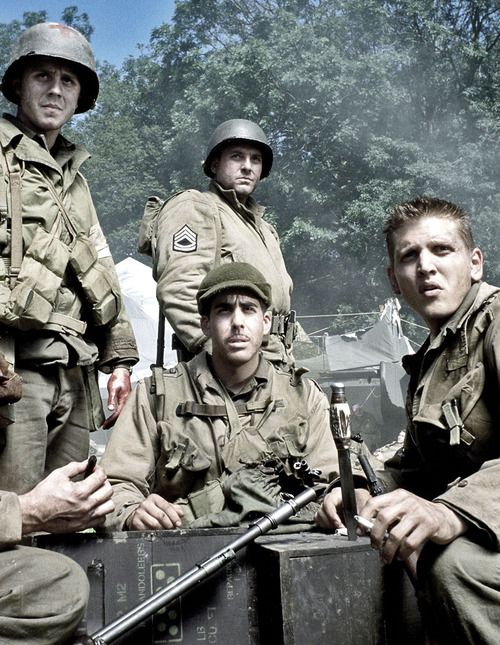 """Saving Private Ryan"" - Giovanni Ribisi, Tom Sizemore, Adam Goldberg  Barry Pepper. 1998, Steven Spielberg, dir."