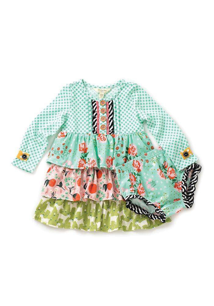 Seedling Dress with Diaper Cover - Matilda Jane Clothing