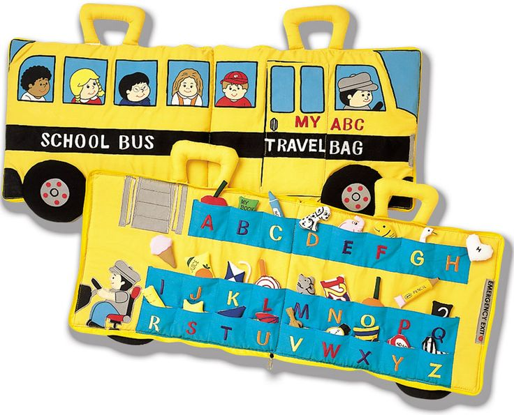 School Bus Abc Soft Cloth Travel Toy Fabric Alphabet
