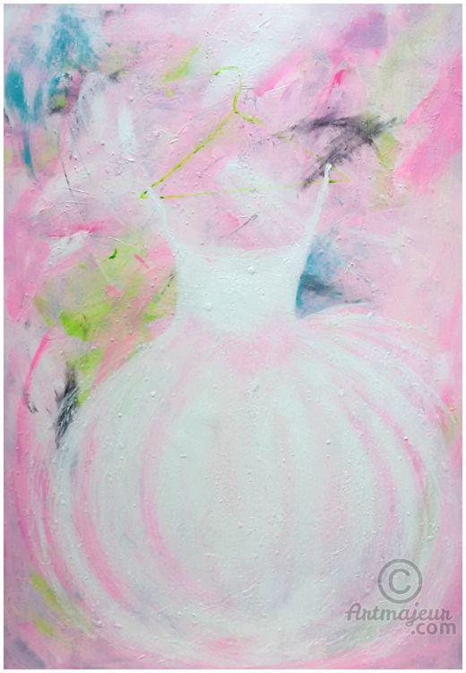 **Tutus Love Infinito** (Pittura),  70x100 cm da Marilena Lacchinelli