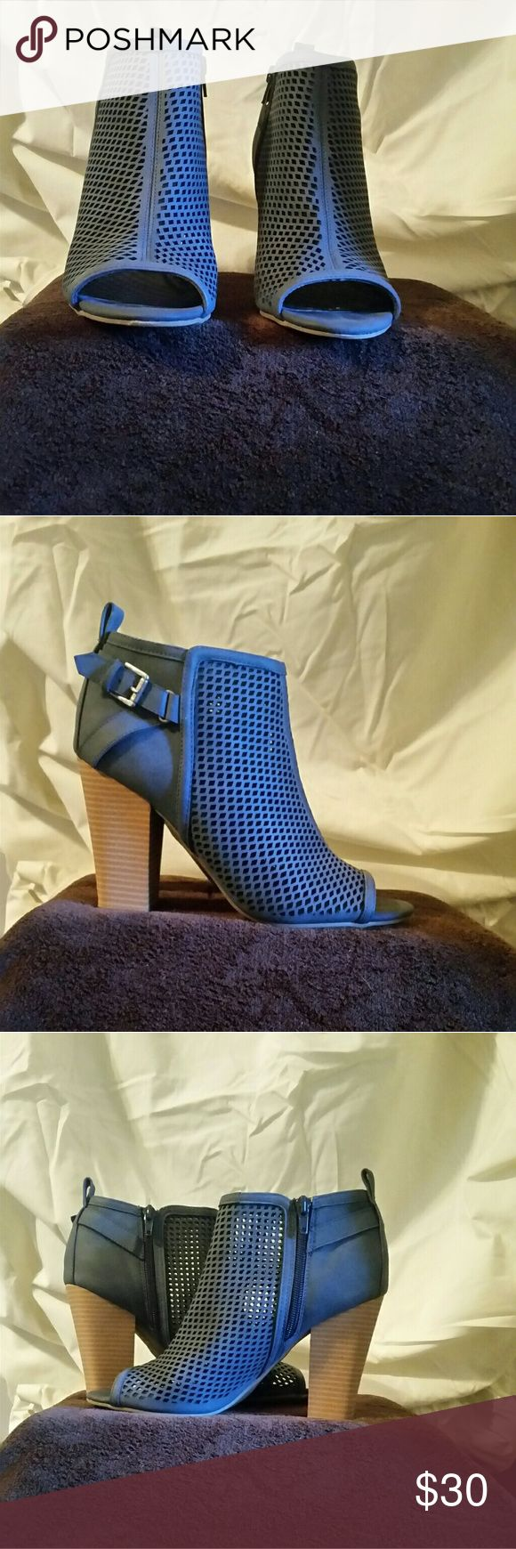 G by Guess Jersey Peep toe Bootie 3.5 inch heel ankle bootie. These were worn twice, in excellent condition G by Guess Shoes Ankle Boots & Booties