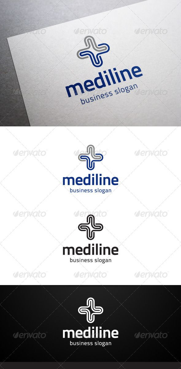 Mediline Logo  #GraphicRiver