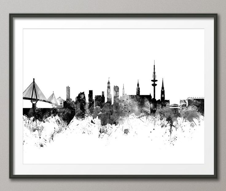 Hamburg Skyline, Hamburg Germany Cityscape Art Print (2652) by artPause on Etsy