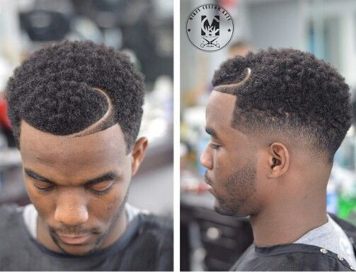 Temp Fade Haircut With Curls Gallery