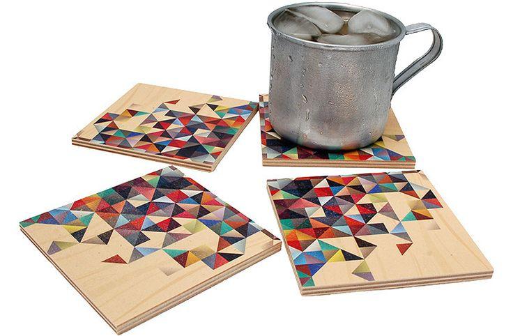 Flox 'Prism' Wooden Coasters