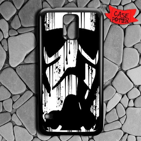Black White Storm Trooper Samsung Galaxy S5 Black Case