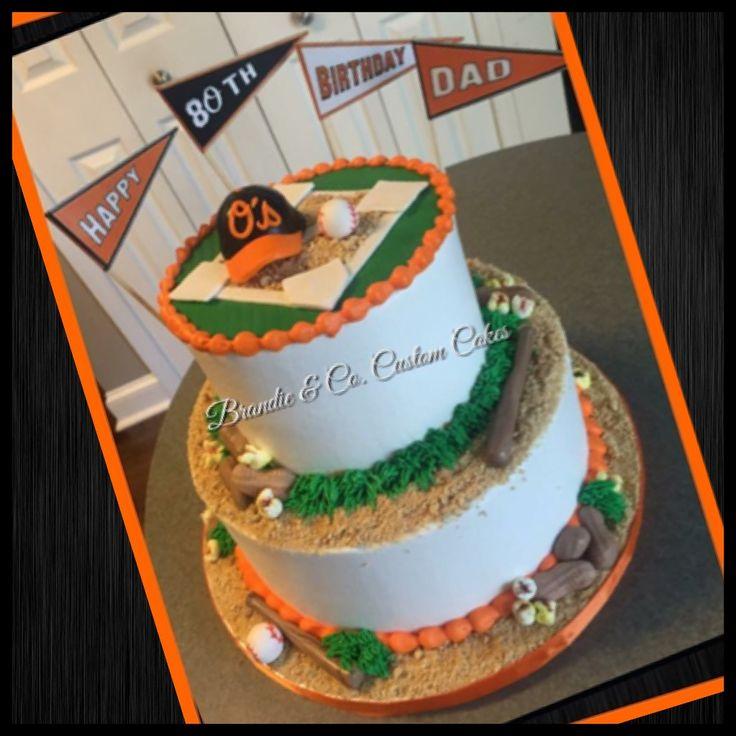 Orioles' cake. Baseball cake