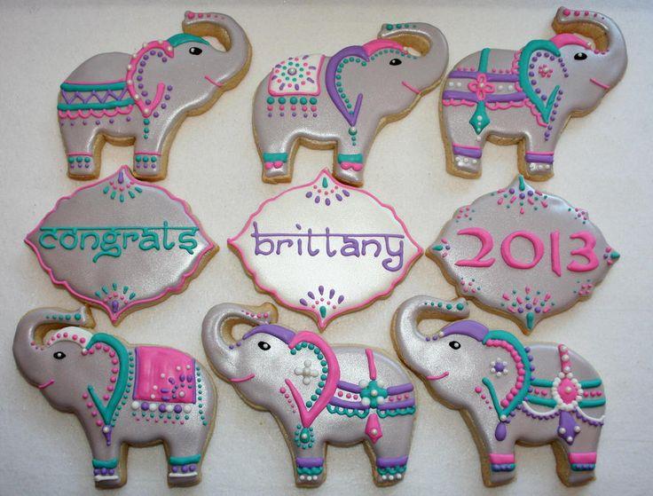 Painted Elephants - by Sugar Sugar Cookies