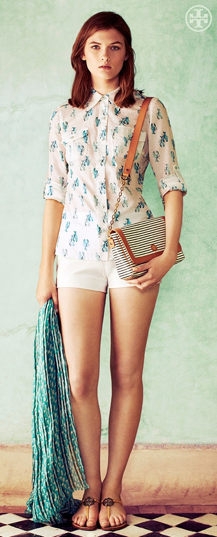 Eclectic Prep The Lobster Print Tory Burch Summer 2013 Summer 2013 Pinterest