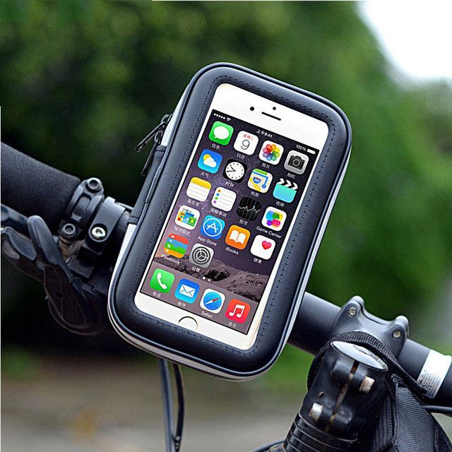 Universal Cellphone Cycling Bicycle Bike Motorcycle Handlebar Mount Holder Case Touch Screen Phone Pouch Waterproof PVC