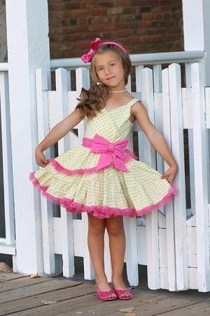Ooh! La, La! Couture Yellow Gingham Sundress