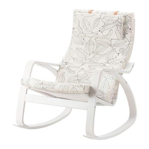 IKEA - POÄNG, Schommelstoel, Vislanda zwart/wit, , De hoes is afneembaar en chemisch te reinigen en dus eenvoudig schoon te houden.Gelaagd en vormgebogen berken biedt een comfortabele vering.De hoge rugleuning geeft een goede ondersteuning van de nek.Gratis 10 jaar garantie. Raadpleeg onze folder voor de garantievoorwaarden.
