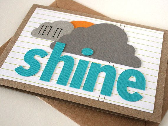 Let it Shine Gift Card. Handmade by Melliemakes.