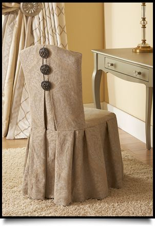 Rowley's Romantic Dressing Room Roomscape: Slip-Covering a Vanity Chair with an Elegant Pleated Skirt