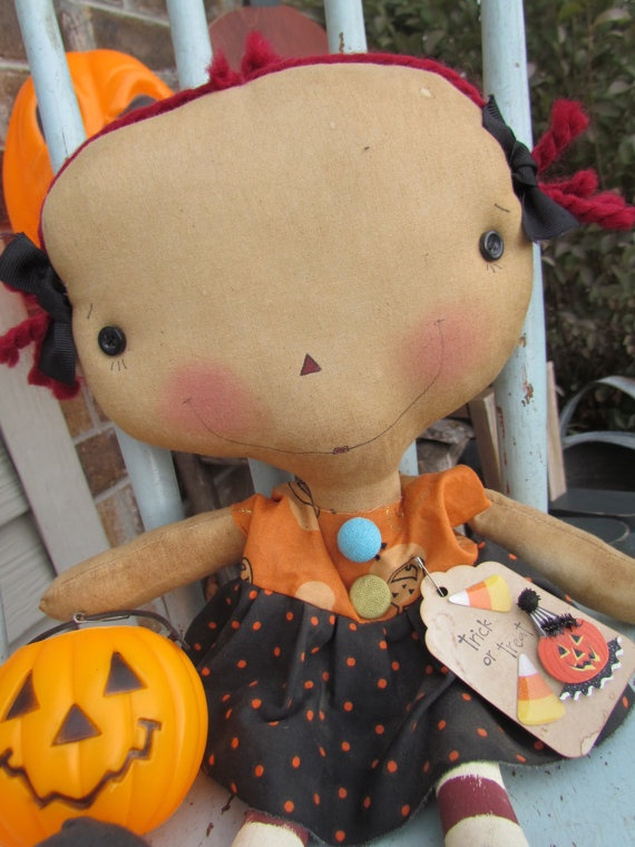 Vintage Raggedy Annie Halloween doll by oldragdollcupboard on Etsy, $23.00
