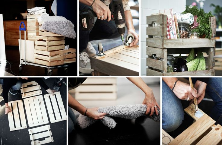 Get creative. Come check out our interior designer Anna hack the IKEA KNAGGLIG wooden box.