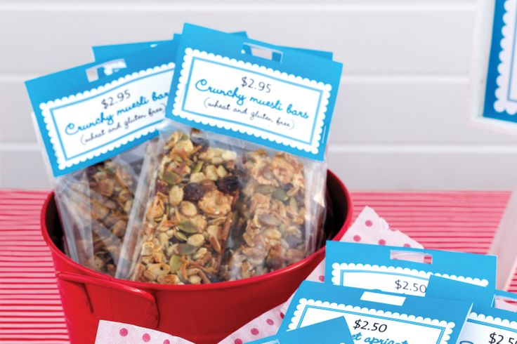 These gluten-free muesli bars are the perfect size for school lunch-boxes.