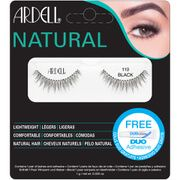 #Ardell Natural Lashes 117 Black #Intensify your peepers with Ardells 117 Lashes. Lightweight and reusable, the eye-enhancing false lashes are perfect for day and night; their full, natural looking hairs lend your eyes a glamorous, fanned-out appearance. Made with natural hair and easy to apply. Shape: Small eyes. Large eyes. Almond shaped eyes. Deep set eyes. Contains one pair of lashes and adhesive.
