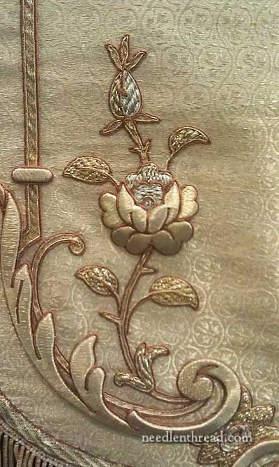 Goldwork Vestments for St. Therese of Lisieux.