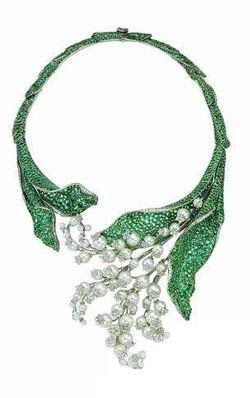 Dior lilies of the valley necklace