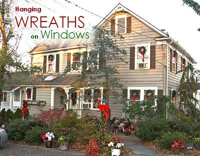 21 best Wreaths in windows images on Pinterest | Christmas ideas ...