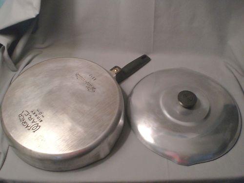 Vtg Magnalite Aluminum Skillet Pot Pan Wagner Ware Sidney