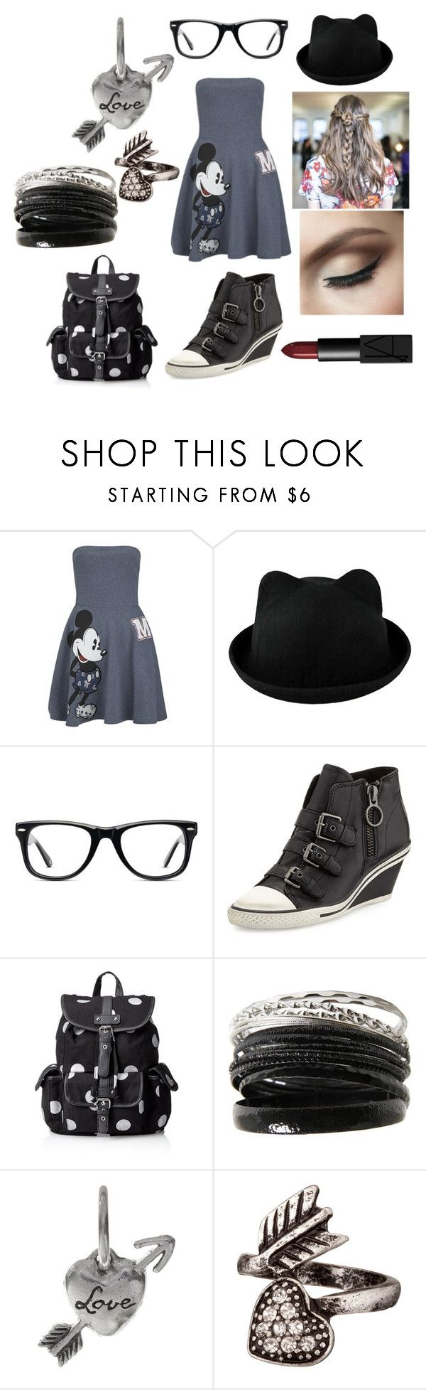 """""""Grey"""" by tiarose99 ❤ liked on Polyvore featuring Paul & Joe Sister, Muse, Ash, Wild Pair, Waxing Poetic and NARS Cosmetics"""