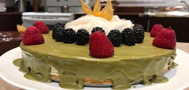طريقة عمل تشيز كيك الفستق بالنوتيلا بالصور Cheesecake Food Pistachio