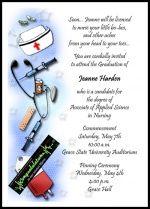 Graduate Announcement Invitation for Nursing School Grads