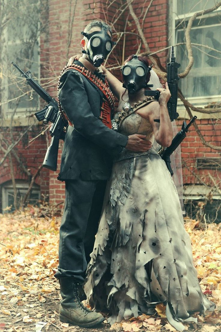 Geek natives get married Fallout style