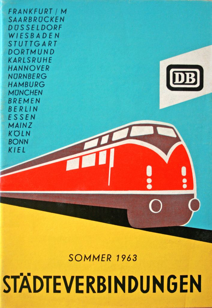 German train timetable, 1963