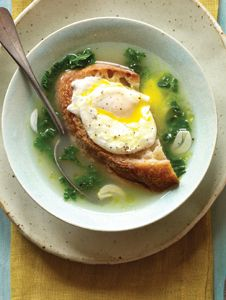 Garlic Soup with Poached Egg. Photo by Sheri Giblin