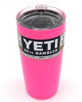 20oz Pink Hot Sale Yeti Rambler Coolers Tumbler Stainless Steel Cup Coffee Mug