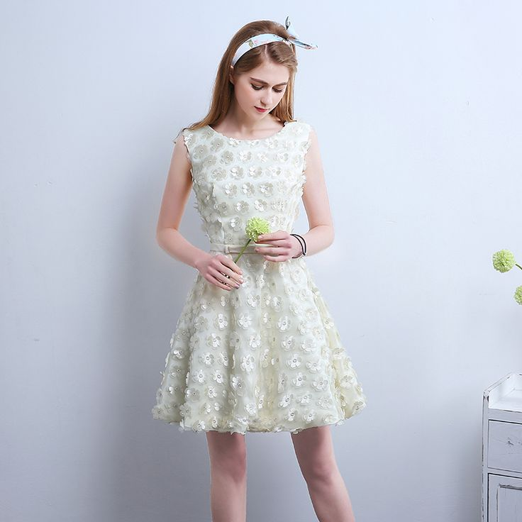 Nette Zurück zu Schule Kurze Prom Kleider 2016 blumen Hochzeit Ballkleid Puffy Tanzen Partykleid Grün Rosa Lila //Price: $US $71.25 & FREE Shipping //     #dazzup