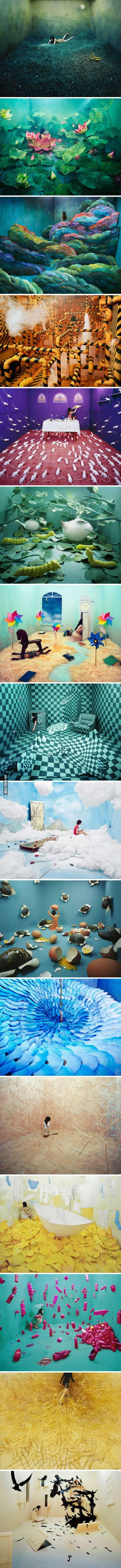 Korean Artist Transforms Her Small Studio Into Beautiful Dream Worlds