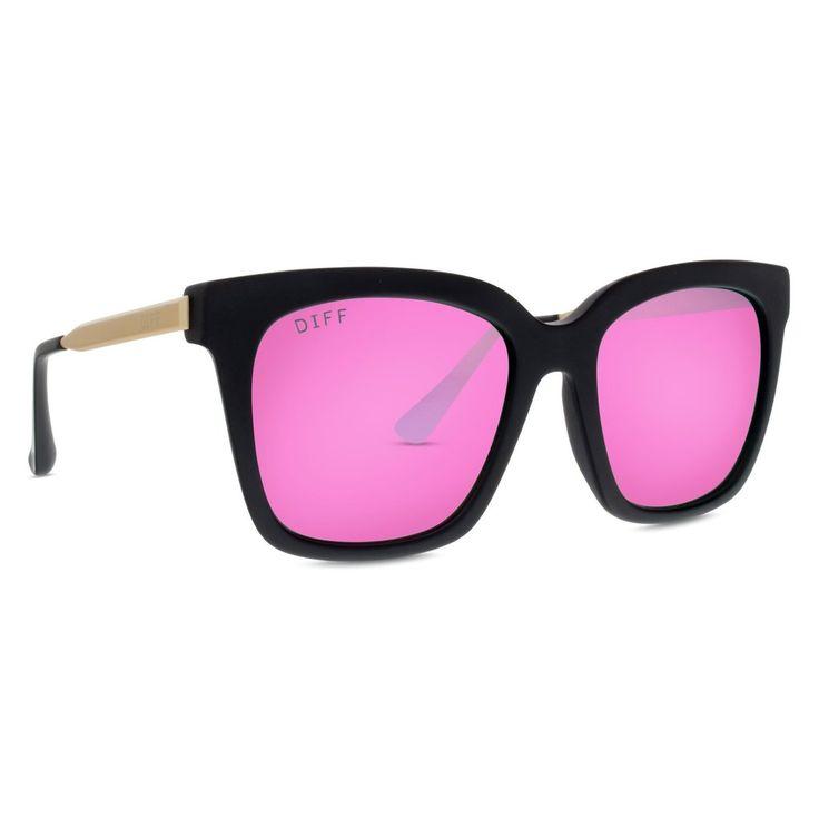 Bella pink mirrored diff sunglasses $85