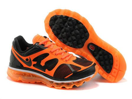 Nike Air Max 2012 Black Orange Shoes: Women Running Shoes, Airmax, Max 2012, Men Shoes, 2012 Black, Nike Shoes, Nike Air Max, Nike Free, Black Orange