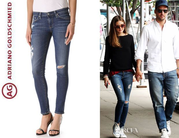 Olivia Palermo's AG Adriano Goldschmied 'Stilt' Cigarette Jeans
