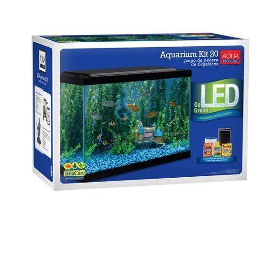 cool Aqua Culture Aquarium Starter Kit 20 Gallon Home Fish Tank Decoration Led Filter   Check more at http://harmonisproduction.com/aqua-culture-aquarium-starter-kit-20-gallon-home-fish-tank-decoration-led-filter/