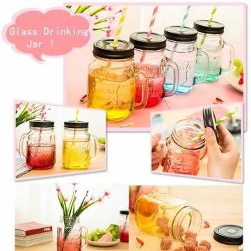 A moda graduou a garrafa de xícara de jarro de bebida de vidro a cores 500ml