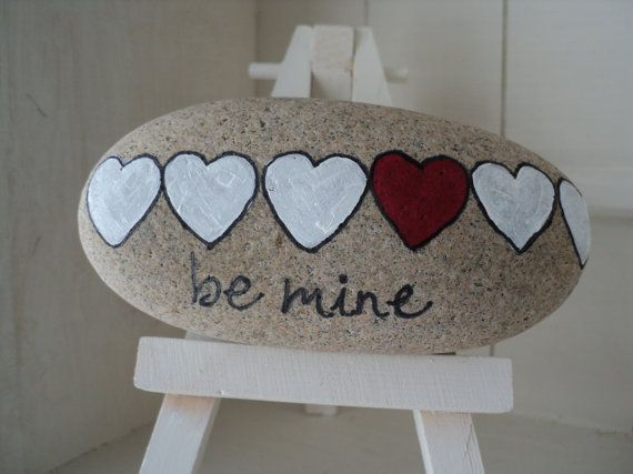 Unique hand painted Valentines love messages by TheSeashoreStore, $8.00