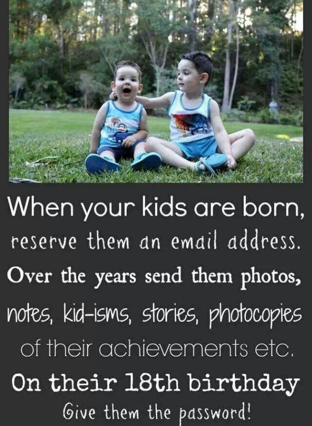 Grandkids email ... This is Awesome... I have a grandbaby due in the fall & I want to do this!!! <3<3<3