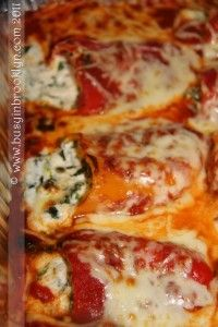 cheesey stuffed peppers by Busy in Brooklyn - 25 Vegetarian Passover Recipes