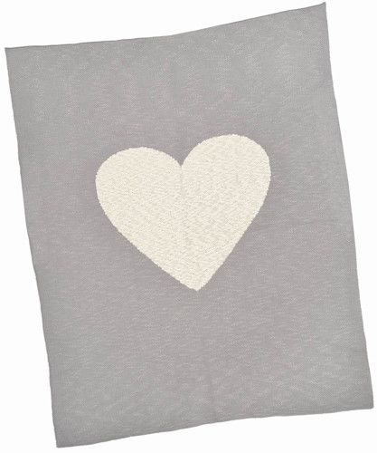 Made with care for little ones, Merben International soft natural Heart Baby Blanket is both comforting and a lovely keepsake.