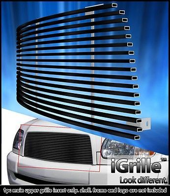 Fits 2003-2006 Toyota Tundra Stainless Steel Black Upper Billet Grille